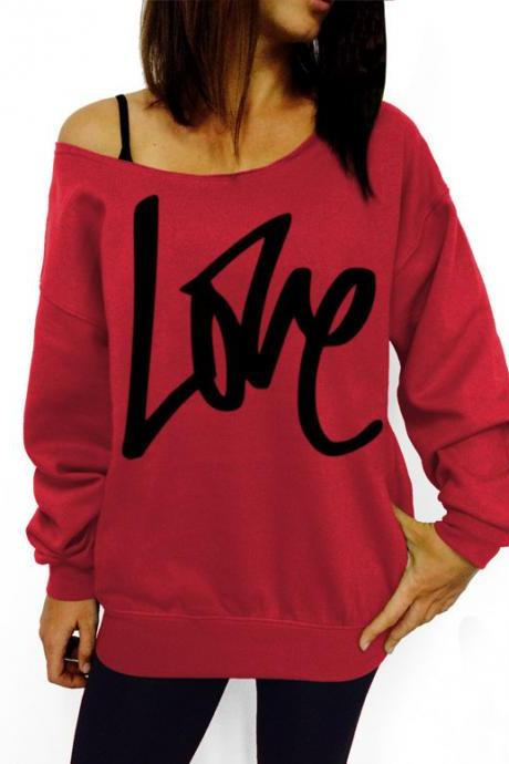 LOVE letters printing clothing