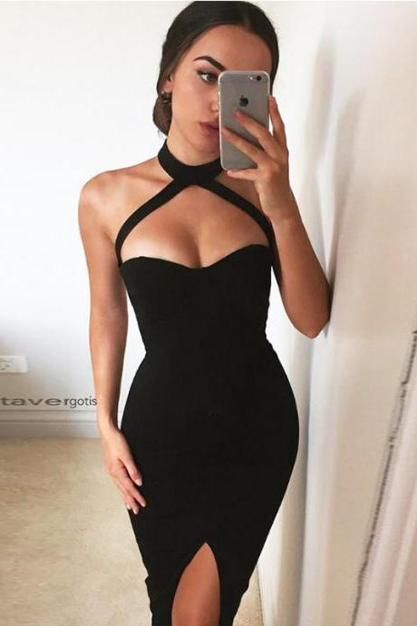 Sexy backpack hip dress